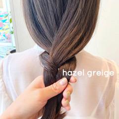 ナチュラル グレージュ ミルクティーベージュ ベージュ ヘアスタイルや髪型の写真・画像