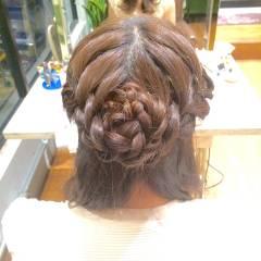 ロング 編み込み 外国人風 ディズニー ヘアスタイルや髪型の写真・画像