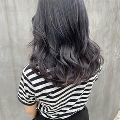 透明感カラー グレージュ 地毛風カラー ナチュラル ヘアスタイルや髪型の写真・画像