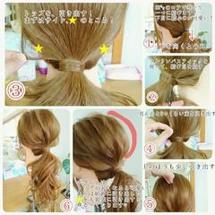 簡単ヘアアレンジ ルーズ ショート ヘアアレンジ ヘアスタイルや髪型の写真・画像