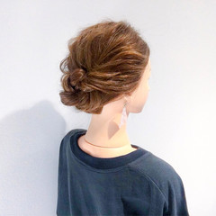 結婚式 簡単ヘアアレンジ セミロング デート ヘアスタイルや髪型の写真・画像