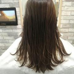 アッシュ 秋 透明感 セミロング ヘアスタイルや髪型の写真・画像