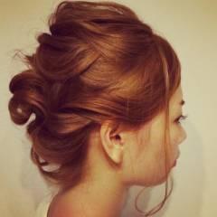 ゆるふわ ヘアアレンジ ボブ コンサバ ヘアスタイルや髪型の写真・画像