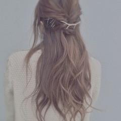 ロープ編み ヘアアレンジ ロング くるりんぱ ヘアスタイルや髪型の写真・画像