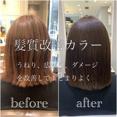 髪質改善 髪質改善カラー 大人かわいい 髪質改善トリートメント ヘアスタイルや髪型の写真・画像