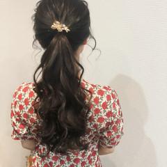 結婚式 ロング ポニーテールアレンジ ポニーテール ヘアスタイルや髪型の写真・画像