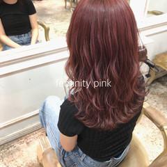 ピンク ヘアカラー ナチュラル 外国人風カラー ヘアスタイルや髪型の写真・画像