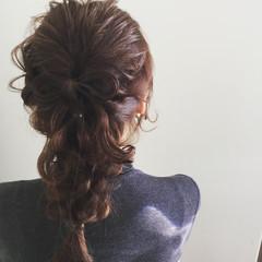 大人かわいい ロング ガーリー ヘアアレンジ ヘアスタイルや髪型の写真・画像