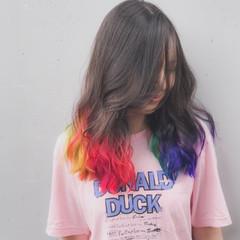 カラフルカラー 外国人風カラー ストリート 個性的 ヘアスタイルや髪型の写真・画像