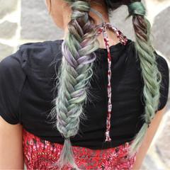 透明感 ロング ヘアアレンジ 個性的 ヘアスタイルや髪型の写真・画像
