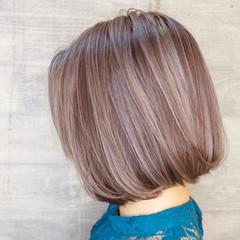 切りっぱなしボブ バレイヤージュ 外国人風カラー ショートボブ ヘアスタイルや髪型の写真・画像