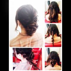 原宿系 ガーリー 春 編み込み ヘアスタイルや髪型の写真・画像