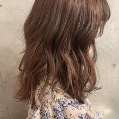 ミディアム フェミニン 大人かわいい 大人女子 ヘアスタイルや髪型の写真・画像