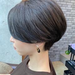 ミニボブ ショート ナチュラル ショートボブ ヘアスタイルや髪型の写真・画像
