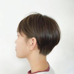 ハンサムショート ナチュラル ショートボブ ハンサムボブ ヘアスタイルや髪型の写真・画像