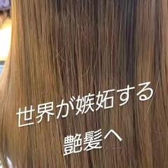ロング トリートメント 髪質改善カラー 髪質改善トリートメント ヘアスタイルや髪型の写真・画像