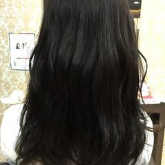 ロング オフィス ナチュラル セミロング ヘアスタイルや髪型の写真・画像