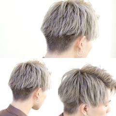 ショート ストリート アッシュ メンズ ヘアスタイルや髪型の写真・画像