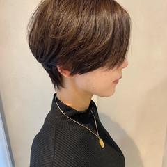ショート オフィス 大人ショート ハンサムショート ヘアスタイルや髪型の写真・画像