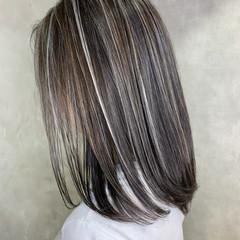 ホワイトブリーチ 大人ハイライト ハイライト ロング ヘアスタイルや髪型の写真・画像