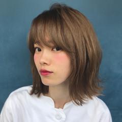 ボブ 外ハネ 外国人風カラー フェミニン ヘアスタイルや髪型の写真・画像