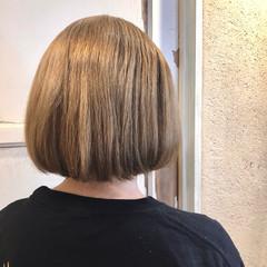 ボブ ガーリー ミルクティーベージュ ミルクティーグレージュ ヘアスタイルや髪型の写真・画像