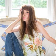 ワイドバング ロング 渋谷系 外国人風 ヘアスタイルや髪型の写真・画像