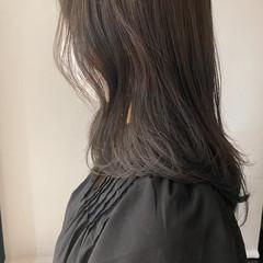 ブルージュ ミディアム 透明感カラー 暗髪 ヘアスタイルや髪型の写真・画像