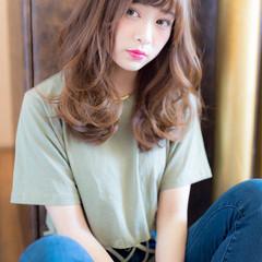 ラフ デート ヘアアレンジ セミロング ヘアスタイルや髪型の写真・画像