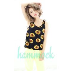 グラデーションカラー ミディアム 夏 ヘアアレンジ ヘアスタイルや髪型の写真・画像