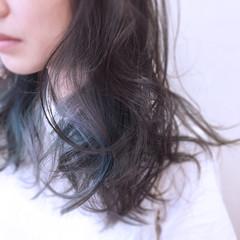 インナーカラー 秋 透明感 大人かわいい ヘアスタイルや髪型の写真・画像