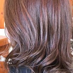 ココアブラウン グラデーションカラー ナチュラルグラデーション エレガント ヘアスタイルや髪型の写真・画像