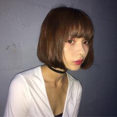 ストレート ボブ ストリート ガーリー ヘアスタイルや髪型の写真・画像