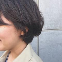 パーマ ショートヘア ボブ ボブ ヘアスタイルや髪型の写真・画像