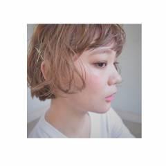 大人かわいい 卵型 外国人風 ガーリー ヘアスタイルや髪型の写真・画像