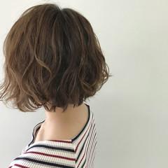 ゆるふわ ボブ デート ナチュラル ヘアスタイルや髪型の写真・画像