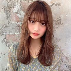 大人可愛い 前髪あり ロング 韓国ヘア ヘアスタイルや髪型の写真・画像