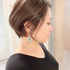 ベリーショート ゆるふわ デート オフィス ヘアスタイルや髪型の写真・画像