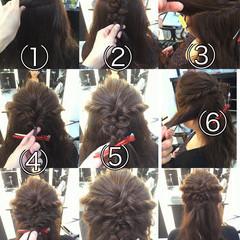 ガーリー パーティ ハーフアップ ヘアアレンジ ヘアスタイルや髪型の写真・画像