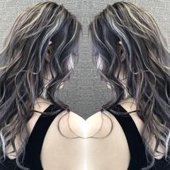 外国人風カラー セミロング 外国人風 ストリート ヘアスタイルや髪型の写真・画像