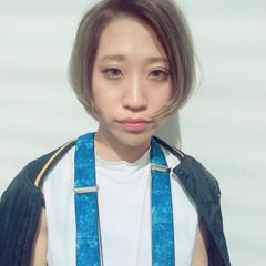 大人かわいい ショートボブ ストリート 外国人風 ヘアスタイルや髪型の写真・画像