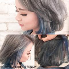 ストリート ボブ インナーカラー 女子会 ヘアスタイルや髪型の写真・画像