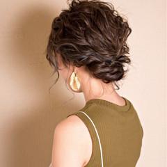 透明感 ヘアアレンジ エレガント 秋 ヘアスタイルや髪型の写真・画像