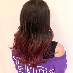 ガーリー グラデーション グラデーションカラー ピンクラベンダー ヘアスタイルや髪型の写真・画像