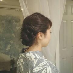和装 ロング 夏 ヘアアレンジ ヘアスタイルや髪型の写真・画像
