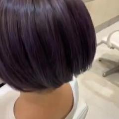 ミニボブ ナチュラル ブリーチ ショート ヘアスタイルや髪型の写真・画像