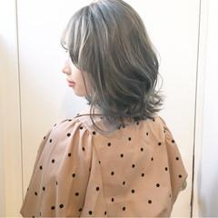 ブルーアッシュ オリーブアッシュ ストリート アッシュグレージュ ヘアスタイルや髪型の写真・画像