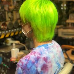 派手髪 ショート ショートヘア ベリーショート ヘアスタイルや髪型の写真・画像