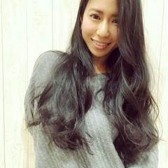 黒髪 秋 ロング 冬 ヘアスタイルや髪型の写真・画像