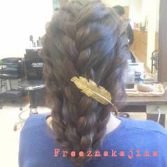 フェミニン 編み込み コンサバ ゆるふわ ヘアスタイルや髪型の写真・画像